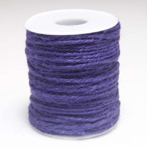 Unwaxed hemp cord, Hemp, Dark purple, 10m, Diameter 2mm, [LMS0024]